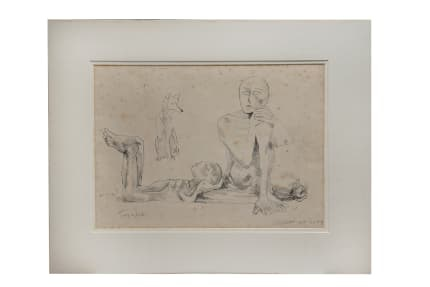 Somnath Hore Untitled lithograph 1980