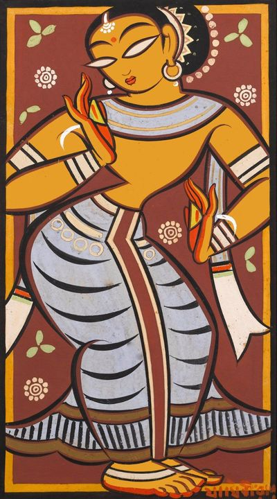 Jamini Roy Dancing Girl
