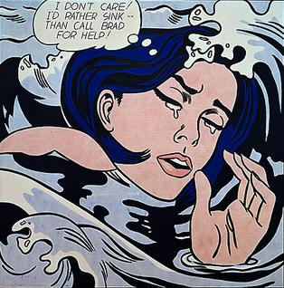 Roy Lichtenstein Drowning Girl 1963
